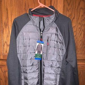 Orvis Mixed Media Jacket men's Large grey